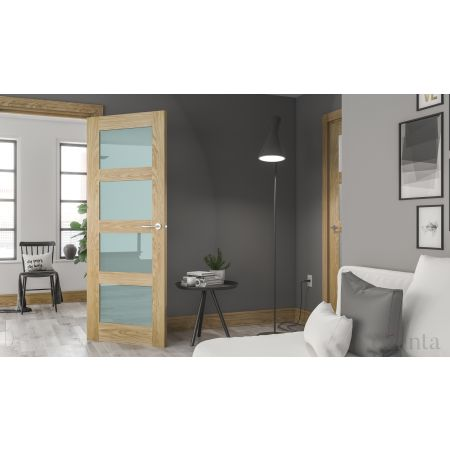 Coventry Unfinished Oak Frosted Glaze Doors