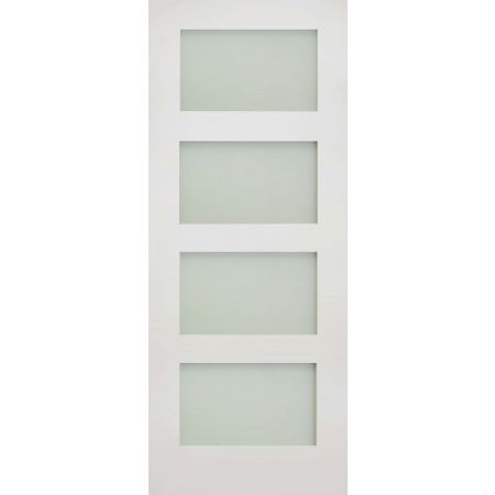 Coventry White Primed Frosted Glaze Doors