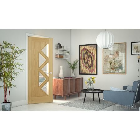 Ely Prefinished Oak Glazed (5L) FSC Doors