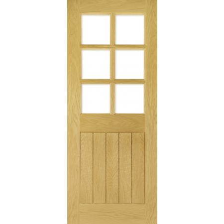 Ely Unfinished Oak Bevelled Glaze (6L) Doors