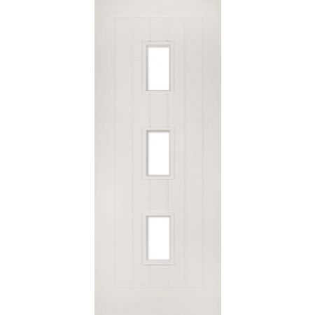 Ely White Primed Glazed (3L) Doors