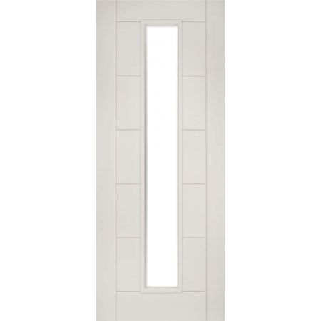 Seville White Primed Glazed 1L FD30 Doors