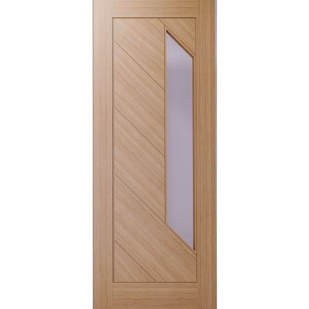 Torino Prefinished Oak Glazed FD30 FSC Doors