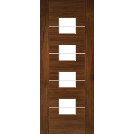 Valencia Prefinished Walnut Glazed FSC Doors
