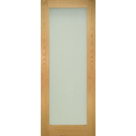 Walden Unfinished Oak Frosted Glaze Doors