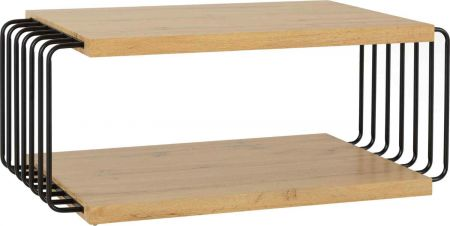 Dennis Coffee Table Light Oak Effect and Black