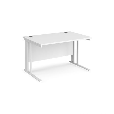 Mistron 25 Straight Office Desk 1200mm X 800mm - Cable Managed Leg Frame
