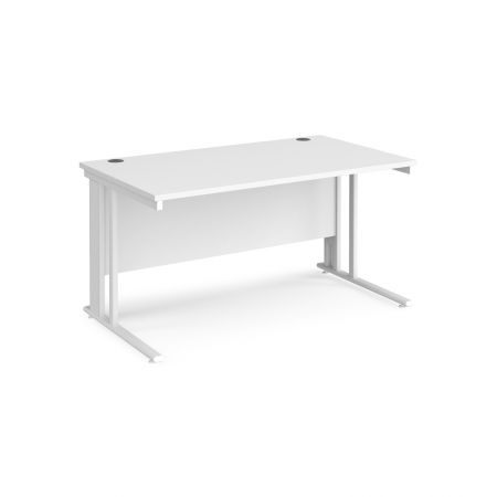 Mistron 25 Straight Office Desk 1400mm X 800mm - Cable Managed Leg Frame