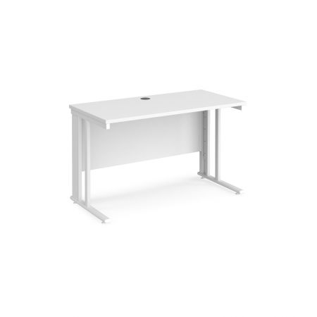 Mistron 25 Straight Office Desk 1200mm X 600mm - Cable Managed Leg Frame
