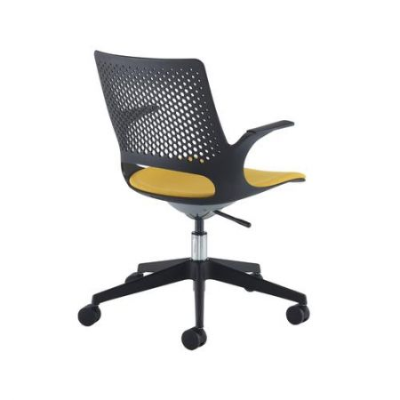Suena Designer Operators Chair With Upholstered Seat- Made To Order