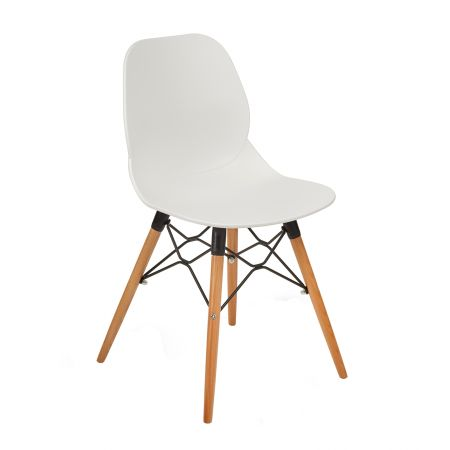 Stonan Multi-Purpose Chair With Natural Oak 4 Leg Frame And Black Steel Detail
