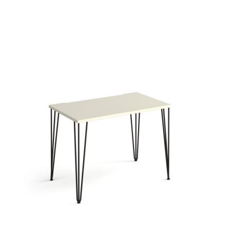Trefal Straight Office Desk 1000mm X 600mm With Hairpin Legs