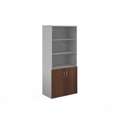 Duo Combination Unit With Glass Upper Doors 1790mm High With 4 Shelves
