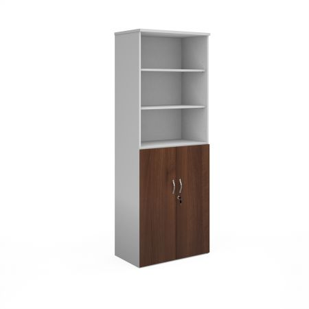 Duo Combination Unit With Open Top 2140mm High With 5 Shelves