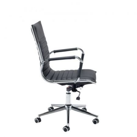 Barista Medium Back Executive Chair - Black Faux Leather