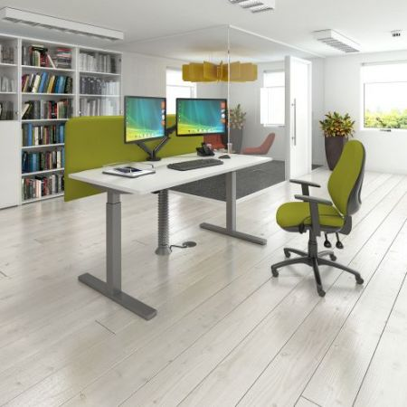 Vibe Desktop Screen For Single Desks 1200mm X 600mm - Made To Order