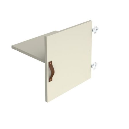 Storage Unit Insert - Cupboard With Leather Strap Handle And Inner Shelf