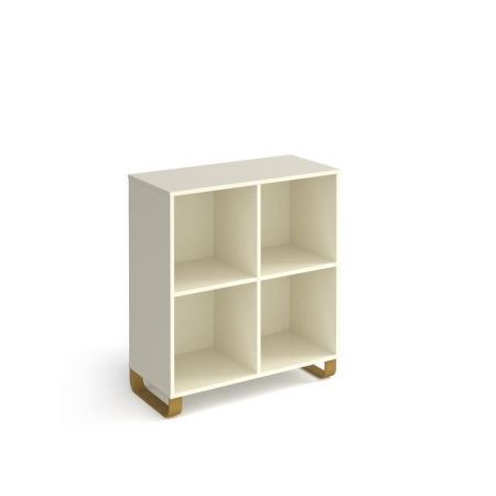 Carton Cube Storage Unit 950mm High With 4 Open Boxes And Sleigh Frame Legs