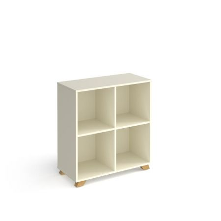 Giset Cube Storage Unit 950mm High With 4 Open Boxes And Wooden Legs
