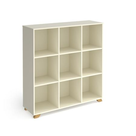 Giset Cube Storage Unit 1370mm High With 9 Open Boxes And Wooden Legs
