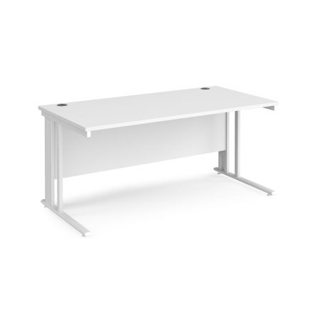 Mistron 25 Straight Office Desk 1600mm X 800mm - Cable Managed Leg Frame