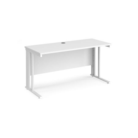 Mistron 25 Straight Office Desk 1400mm X 600mm - Cable Managed Leg Frame