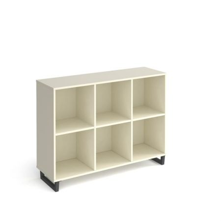 Spectun Cube Storage Unit 950mm High With 6 Open Boxes And Charcoal A-Frame Legs