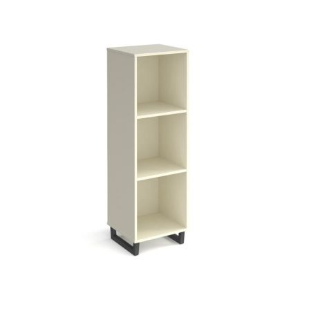 Spectun Cube Storage Unit 1370mm High With 3 Open Boxes And Charcoal A-Frame Legs