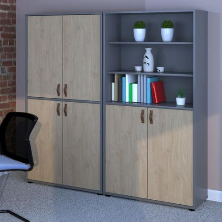 Universal Combination Unit With Open Top 1715mm High With Shelves