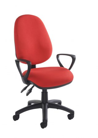 Vardy 100 2 Lever Pcb Operators Chair With Fixed Arms
