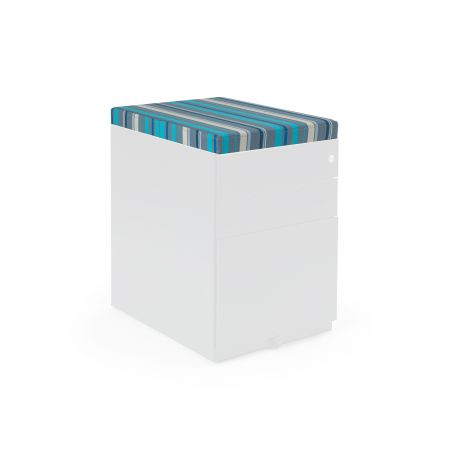 Steel Pedestal Upholstered 50mm Seat Pad Kit With Magnetic Strips