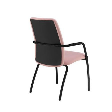 Tuba Black 4 Leg Frame Conference Chair With Fully Upholstered Back - Made To Order