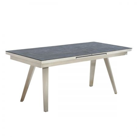 Esmeralda Extra Large Extendable Textured Glass Dining Table