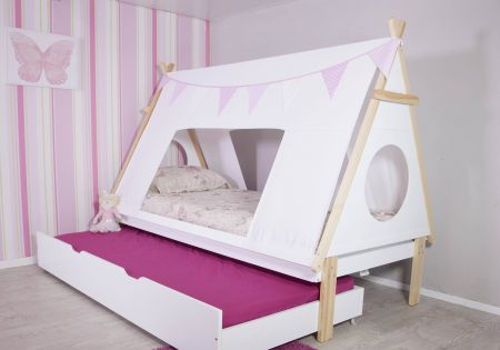 Reepee Tent bed frame with Trundle King Size