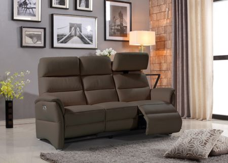 Hunter 3 Seater Electric Recliner - Cappuccino