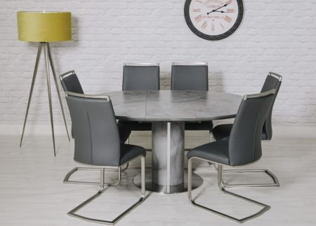 Stella Round Extending Dining Table 1200mm – 1600mm