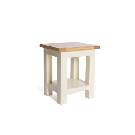 Victoria End Table – Ivory