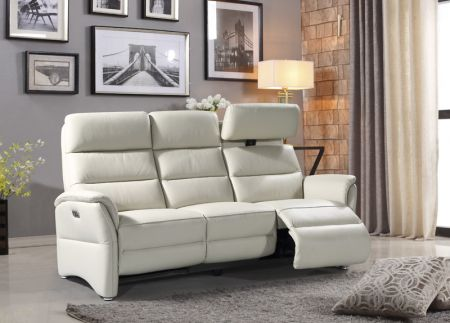 Hunter 3 Seater Electric Recliner Chalk