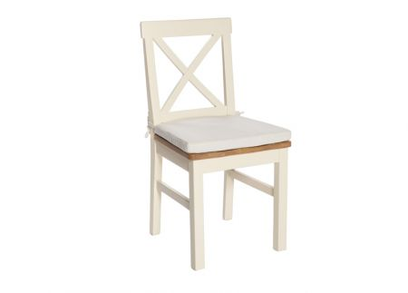 Victoria Chair – Solid Seat – With Seat Pad – Ivory x 2