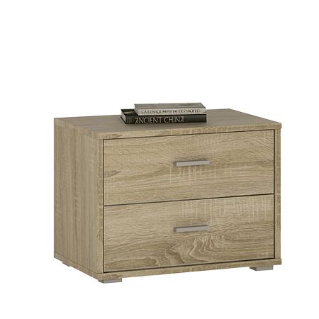 Logi 2 Drawer Low Chest/Bedside