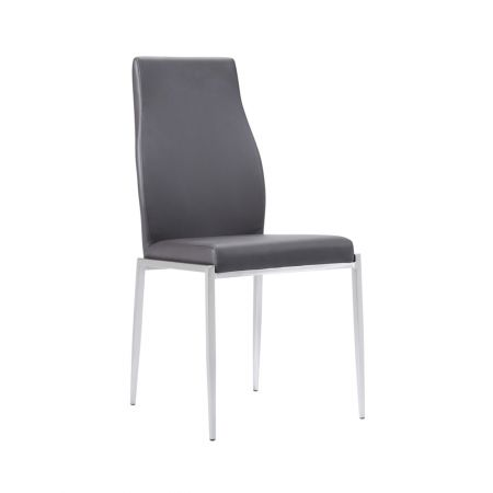 Milan High Back Leather Dining Chairs - Set of 2