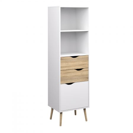 Vindict Bookcase 2 Drawers 1 Door
