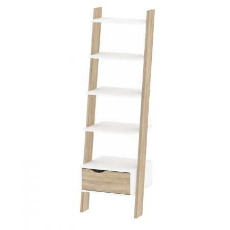 Vindict Leaning Bookcase 1 Drawer