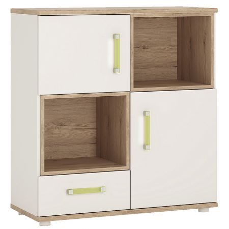 Lil Ones 2 Door 1 Drawer Cupboard With 2 Open Shelves