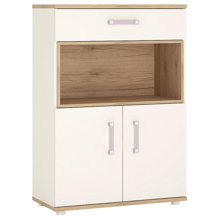 Lil Ones 2 Door 1 Drawer Cupboard With Open Shelf