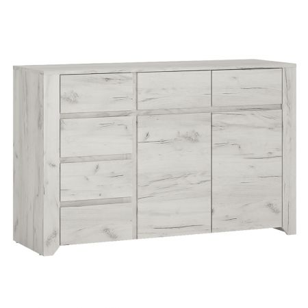 Peace 2 Door 3+3 Drawer Wide Chest