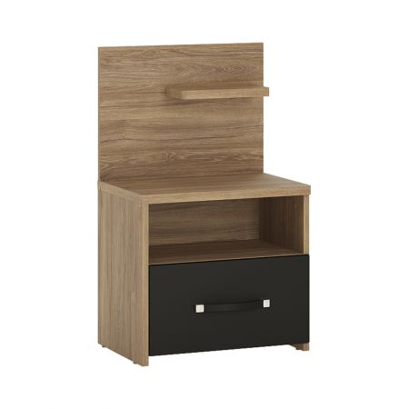 Nice 1 Drawer Bedside With Open Shelf (Rh)
