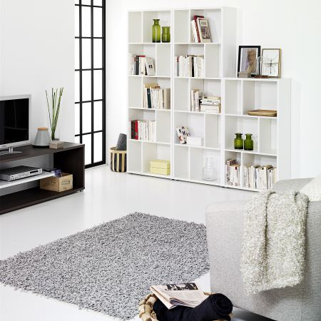 Haze Bookcase 2 Shelves In White