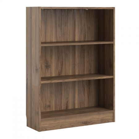 Trident Low Wide Bookcase (2 Shelves)