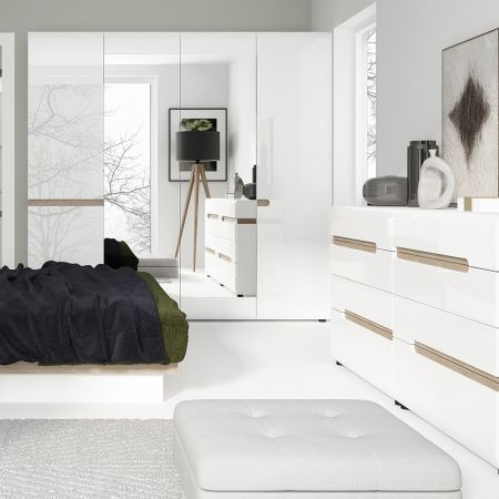 Frosbrooke 4 Door Robe With Mirrors And Internal Shelving